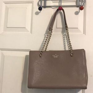Taupe Kate Spade shoulder Bag